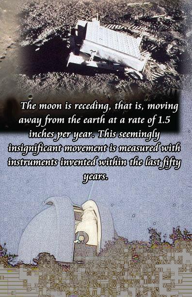 moon receeding