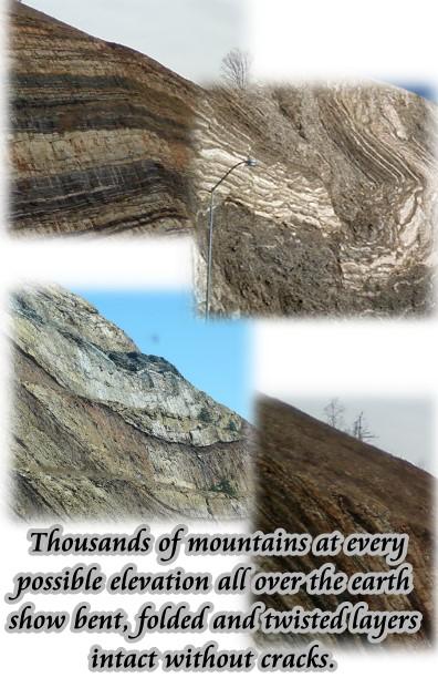 plastic rock layers