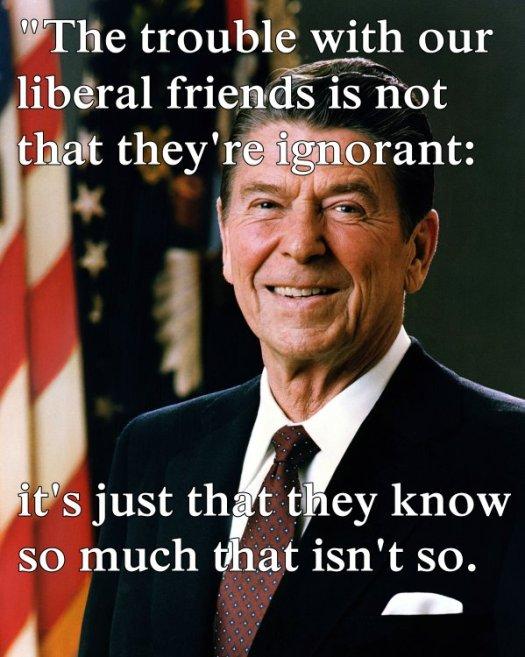 liberal friends reagan meme