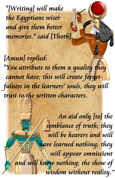 thoth and amun writing