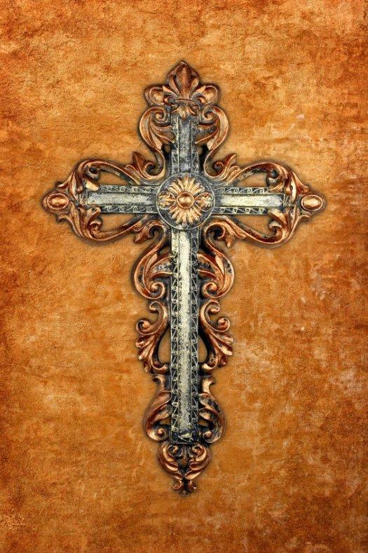 Crucifix on Stucco Wall