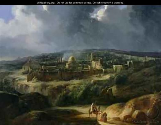View of Jerusalem from the Valley of Jehoshaphat by Auguste Forbin,  Musée du Louvre, Paris, France