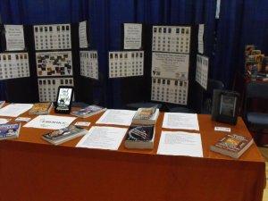 Homeschool exhibit Booth setup day 2