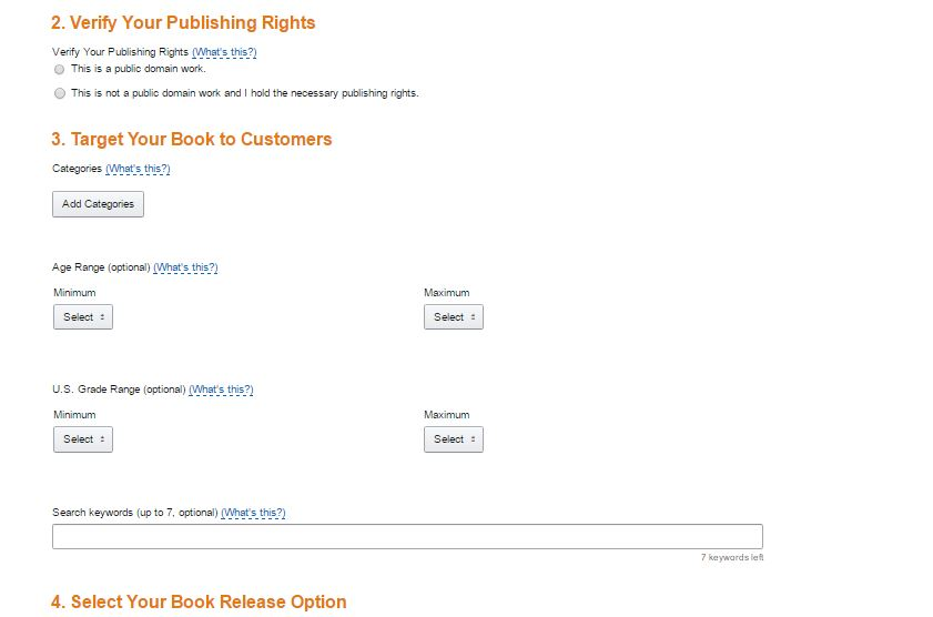 screenshot 3 kindle publish options