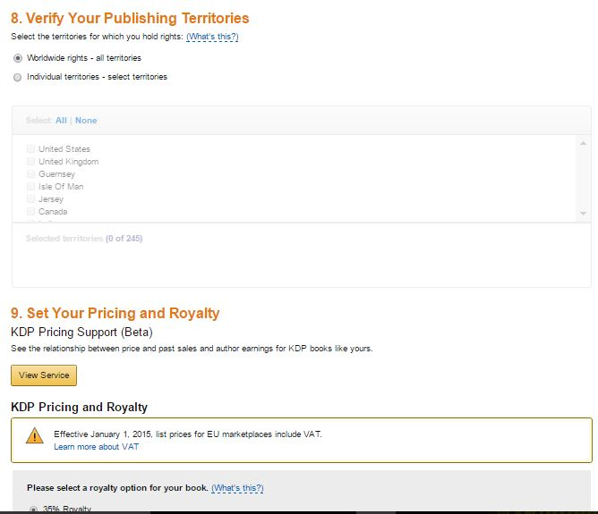 screenshot KDP publishing page 2