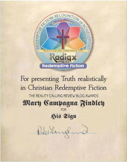 award certificate for his sign